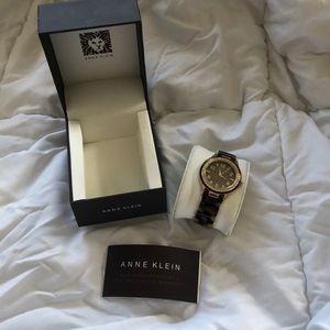 NIB Anne Klein tortoiseshell watch works great